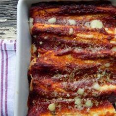 Pumpkin, Black Bean and Caramelized Onion Enchiladas #HealthyAperture