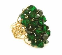 Desideri design emerald ring $215.00