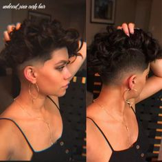 Shaved Curly Hair, Undercut Curly Hair, Curly Pixie Haircuts, Edgy Short Haircuts, Curly Hair Cuts, Girl Haircuts, Undercut Hairstyles, Short Hair Cuts, Curly Hair Styles