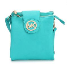 Michael Kors Fulton Pebbled Large Blue Crossbody Bags Outlet
