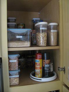 Nice pantry organizing!