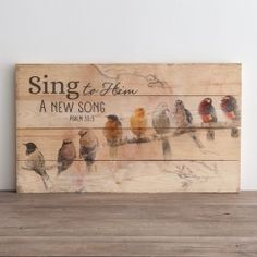 Sing to Him a New Song - Plank Wall Art | DaySpring