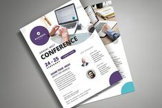 Conference Flyer Template by VectorVactory on @creativemarket