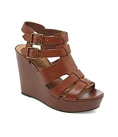 GB EvreeDay Gladiator Wedge Sandals #Dillards