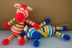 Amigurumizebra, crochetzebra Zelma&Zakariás Amigurumi Toys, Dinosaur Stuffed Animal, Clay, Crochet, Animals, Clays, Animales, Animaux, Ganchillo