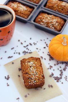 Grain-free Coconut Pumpkin Mini-Loaves with Cocoa Nibs – Gluten-free & Dairy-free