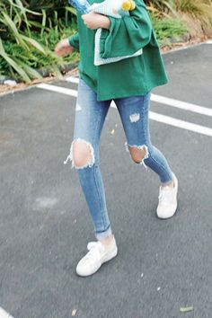 drawn, jeans