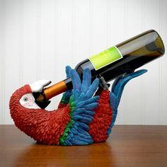 Caribbean Parrot Bottle Holder, from HomeWetBar.com