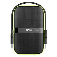 Silicon Power 500GB Rugged Armor A60 Shockproof Water-Resistant 2.5-Inch USB 3.0 Portable External Hard Drive, Black (SP500GBPHDA60S3K)