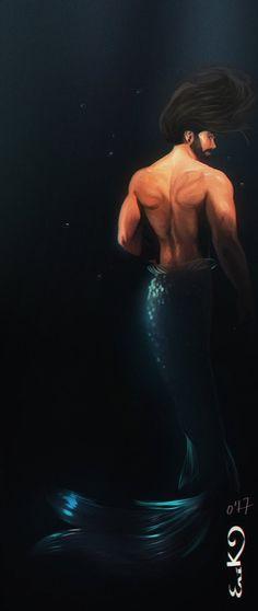 merman by MrRabLo Male Mermaid, Anime Mermaid, Mermaid Tale, Mermaid Artwork, Mermaid Drawings, Mermaid Tattoos, Merman Tails, Silicone Mermaid Tails, Underwater Painting