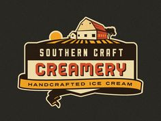 Southern Craft Creamery Branding Concept by Emir Ayouni via Dribbble.