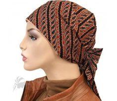 Diagonal Gems Short Tail Cotton Headwrap