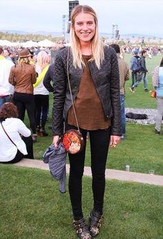 Model and actress Dree Hemingway at Coachella 2012