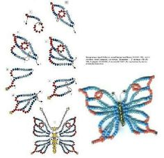 Best 12 beaded butterfly – tutorial – bjl – Page 520165825684388969 Seed Bead Patterns, Beaded Jewelry Patterns, Beading Patterns, Bracelet Patterns, Art Patterns, Loom Patterns, Stitch Patterns, Knitting Patterns, Crochet Patterns