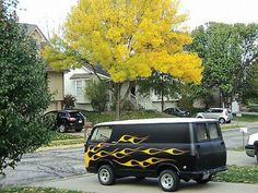 1965 Chevy Van . Mine didnt have flames but was custom inside.