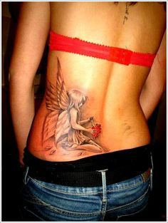 Bring Your Imagination with Fairy Tattoo Designs: Fairy Wing Tattoo Designs For Girl ~ Tattoo Design Inspiration Weird Tattoos, Cute Tattoos, Beautiful Tattoos, Flower Tattoos, New Tattoos, Body Art Tattoos, Tatoos, Celtic Tattoos, Wing Tattoo Designs