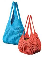 Crochet bags are as fun to use as they are to make! This Easy Tunisian Market Bags Crochet Pattern includes 2 lacy Tunisian cotton bag patterns: Blue Classic Market Bag and Tangerine French Market Bag. Great for travel!