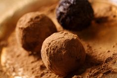 Mint Chocolate Truffles. They make great last minute holiday gifts and are just 98 calories per serving!