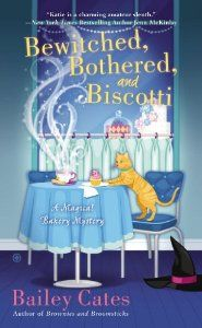 NEW! Bewitched, Bothered & Biscotti, 2nd in the Magical Bakery Mystery Series by Bailey Cates. Released December 31st.    The entire Magical Bakery Mystery Series:  http://www.purplekittyyarns.com/books/magical-bakery-mystery-series