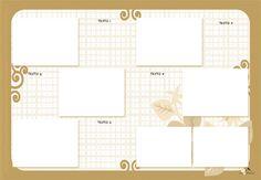 Plantilla Child 29x42 para la Creación de Foto Libros - Fondo Cuadrícula con marco y cenefa en tonos beige