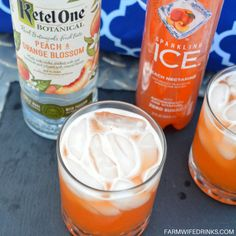 It is a low-carb sparkling peach cocktail with Ketel One Peach and Orange Blosso. It is a low-carb sparkling peach cocktail with Ketel One Peach and Orange Blossom vodka combined in peach nectarine Sparkling Ice. Peach Vodka Drinks, Cocktail Drinks, Vodka Cocktails, Flavored Vodka Drinks, Vodka Mixed Drinks, Ketel One Vodka, Summer Drinks, Fun Drinks, Skinny Alcoholic Drinks