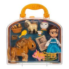 disney parks princess belle animator doll set 5' with accessories as in the photos new with case...