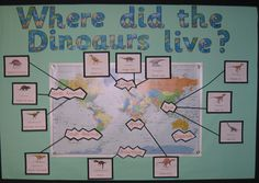 Year 2 children study dinosaurs, term topic links in well with geography and history studies. Year 2 children study dinosaurs, term topic links in well with geography and history studies. Dinosaur Display, Dinosaur Dig, Dinosaur Fossils, Dinosaur Skeleton, Dinosaurs Preschool, Dinosaur Activities, Preschool Activities, Dinosaurs Live, Vocabulary Activities
