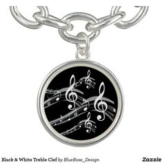 Black & White Treble Clef Bracelet Treble Clef, Photo Charms, Memorable Gifts, Colorful Backgrounds, How To Memorize Things, Perfume, Cosmetics, Black And White, Bracelets
