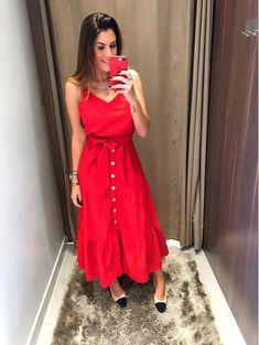 a1df02529 Vestido Midi Valeria Roupas Confortáveis