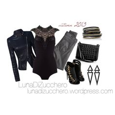 A fashion look from September 2013 featuring AG Adriano Goldschmied leggings, Giuseppe Zanotti ankle booties y McQ by Alexander McQueen shoulder bags. Browse a…