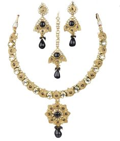 Indian Bollywood Fashion Designer Jewelry Ethnic Stylish Necklace Earrings Set #VGJewel