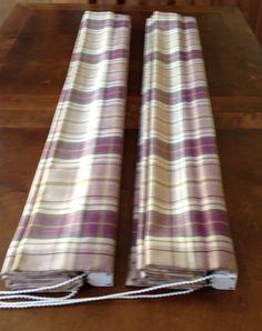 Two heather wool roman blinds perfect for the winter. www.debrajwyatt.co.uk