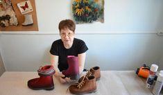 Felt Embroidery, Embroidery Dress, Felt Shoes, Urban Threads, Diy Tutorial, Felt Tutorial, Felted Slippers, Felting Tutorials, Embroidery For Beginners