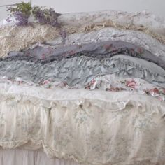 This makes you never want to get out of bed!   Bespoke Bedding / Shabby Chic