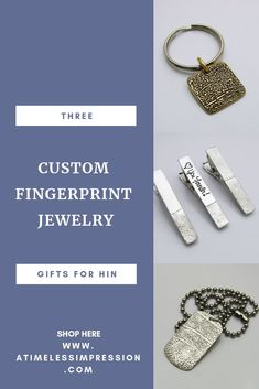 These keepsakes are so amazing and personal. A Timeless Impression has so many designs to choose from and they are ideal for so many occasions. Unique Bracelets, Unique Necklaces, Unique Rings, Unique Gifts For Men, Gifts For Women, Personalized Jewelry, Custom Jewelry, Fingerprint Jewelry, Memorial Jewelry