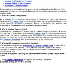 What is Express Entry System 2015?