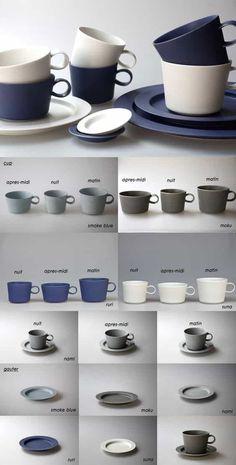 """""""丁寧な暮らし""""のためにすぐ出来る、こだわりアイテムの「選び方」入門編 #おうちごはん Ceramic Coffee Cups, Stoneware Mugs, Ceramic Painting, Ceramic Vase, Pottery Mugs, Ceramic Pottery, Contemporary Tea Sets, Modern Dinner Plates, Ceramic Design"""