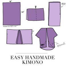 DIY Homemade Kimono in 30 Minutes!