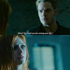 """#Shadowhunters 1x01 """"The Mortal Cup"""" - Jace and Clary"""