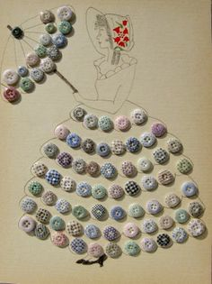 Calico Buttons were first made in England & France.  By the 1840's they became  popular in America & were manufactured by Charles Cartledge & Co. of Long Island, N.Y. from 1848 to 1856 / Antique Buttons Maine
