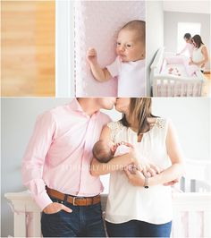 make sure mom & dad's outfits match in terms of style Newborn Family Pictures, Newborn Pics, Cute Baby Pictures, Family Pics, Newborn Session, Baby Photos, Lifestyle Newborn Photography, Photography Ideas, Maternity Photos