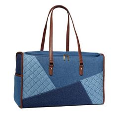 Cool blues! The multi-toned denim trend takes our bag game to the next level.This duffle is the perfect weekend bag with oversize, deep side pockets. Regularly $29.99, shop Avon Fashion online at http://eseagren.avonrepresentative.com