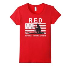 Red Friday Remember Everyone Deployed Shirt with US Flag