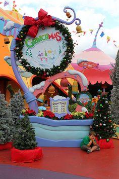 Grinchmas by insidethemagic, via Flickr Grinch Party, Grinch Christmas Party, Christmas Door, Christmas Holidays, Happy Holidays, Grinch Christmas Decorations, Christmas Settings, Christmas Themes, Christmas Crafts