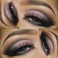 pink and black smokey