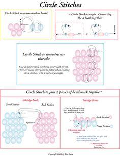 Free Circle Stitch Instructions by Rita Sova at Bead-Patterns.com