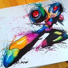 Megaman by @littlegeekyfanart