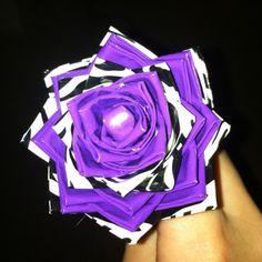 Duct tape flower by Jillian