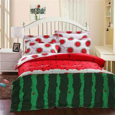 Aliexpress.com : Buy Fashionable Watermelon Pattern Reactive Pure Cotton 4pcs Bedding sets with duvet cover,bed sheet and pillowcase for home textile from Reliable set underwear suppliers on Yous Home Textile $98.00 - 100.00