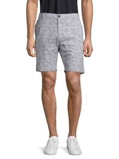 Civil Society Printed Cotton Blend Shorts In Dark Grey Cotton Linen, Printed Cotton, Civil Society, Business Fashion, Patterned Shorts, Civilization, Dark Grey, Mens Fashion, Casual